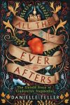 All the Ever Afters cover: illustration of a scroll with the title on, a castle at the top, a shoe at the bottom, and a wax seal in the middle