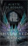 House of Shattered Wings cover: crystal-looking wings open against a big church wall