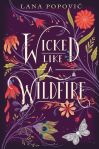 Wicked Like a Wildfire book cover: purple background with delicate flower and butterfly illustrations