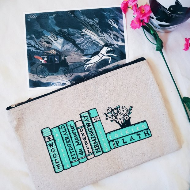 January Book Box Club contents - pouch and print